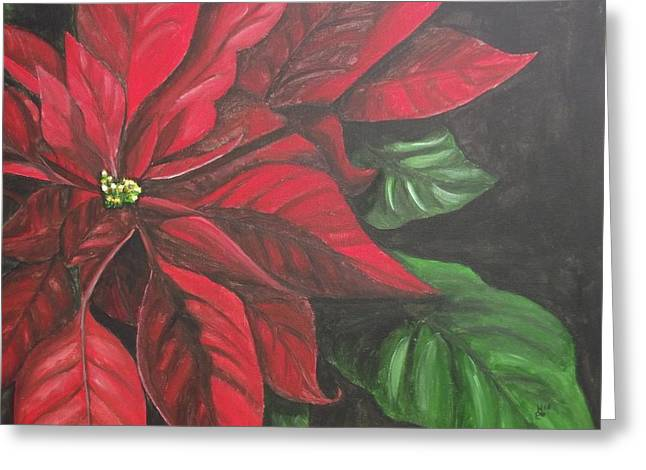 Puff Of Red Greeting Card by Kim Selig