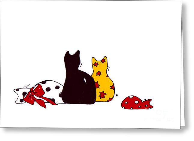 Puffie And Muffie Family Portrait Greeting Card