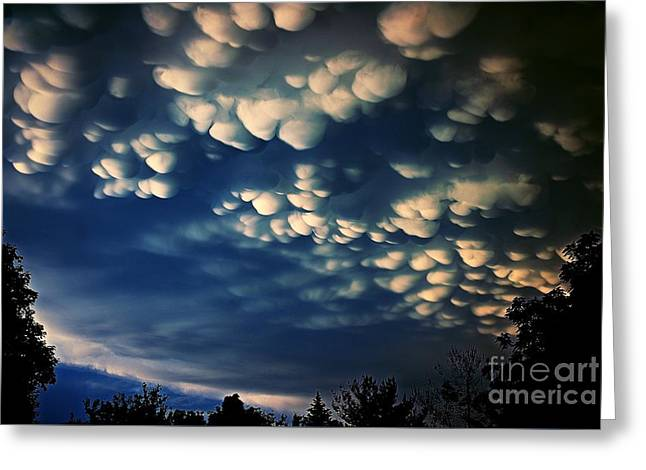Puffy Storm Clouds Greeting Card