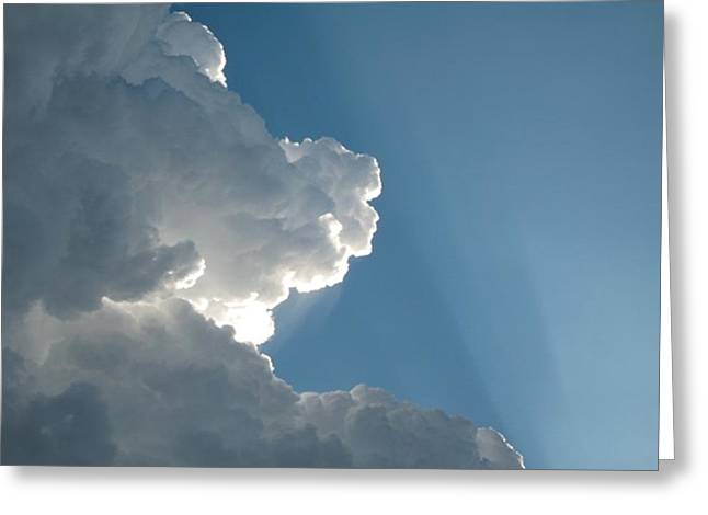 Puffy White Clouds Greeting Card by Liz Vernand