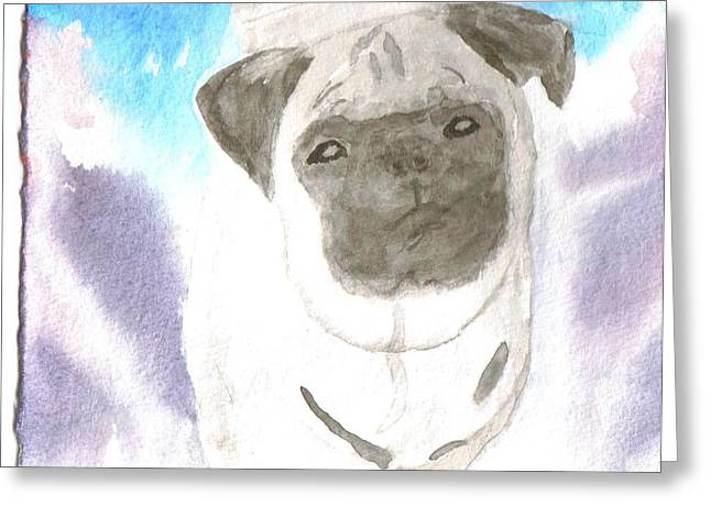 Pug Greeting Card by Warren Thompson