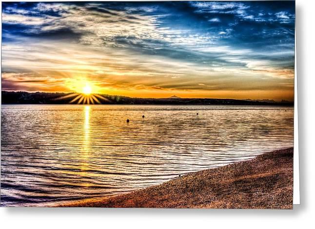 Puget Sound Sunrise Greeting Card by Spencer McDonald
