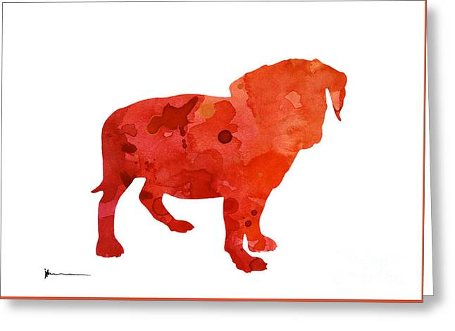 Puggle Art Print Watercolor Painting Greeting Card by Joanna Szmerdt