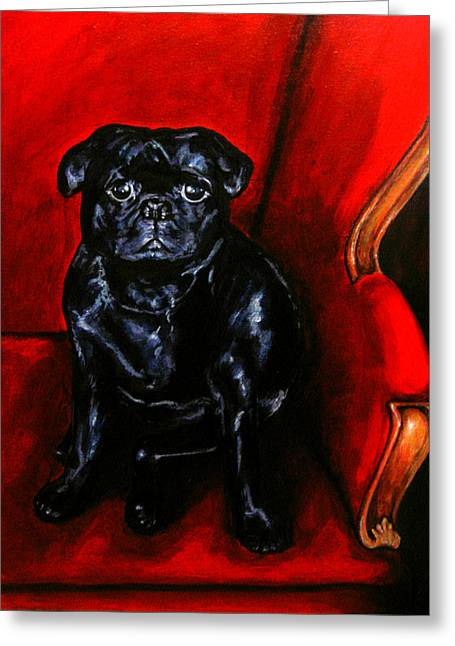 Puggsley Greeting Card