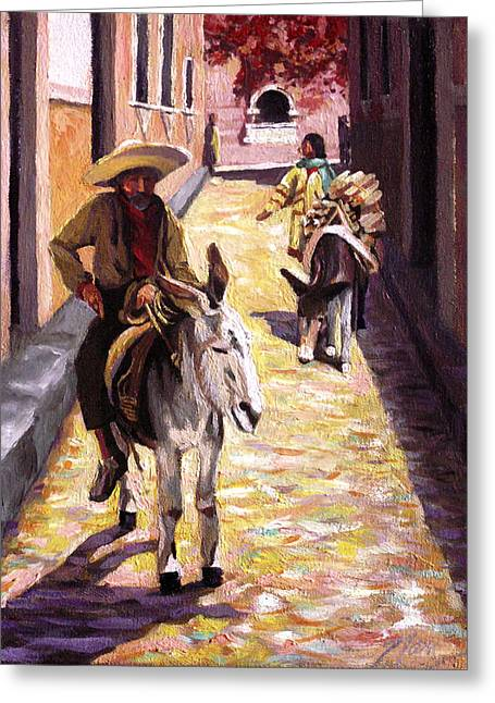 Pulling Up The Rear In Mexico Greeting Card