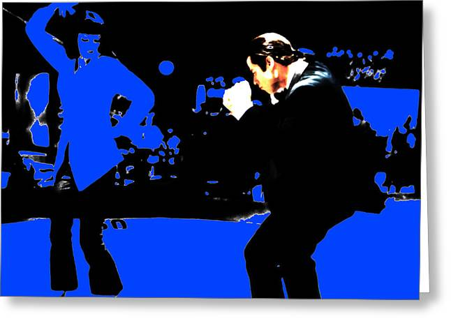 Pulp Fiction Dance 17a Greeting Card