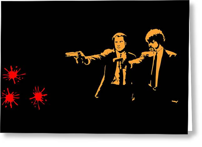 Pulp Fiction Splatter  Greeting Card by Movie Poster Prints