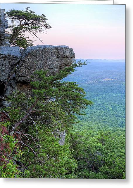 Pulpit Rock Mt Cheaha Greeting Card by JC Findley