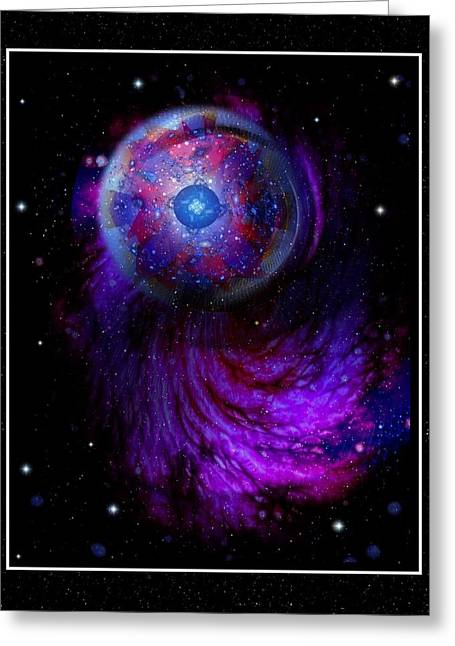 Pulsar At The Edge Of Space Greeting Card