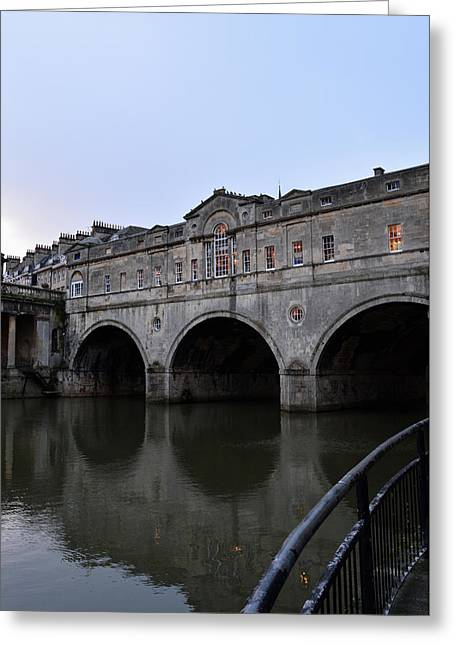 Pulteney Bridge At Dusk Greeting Card by Richard Andrews