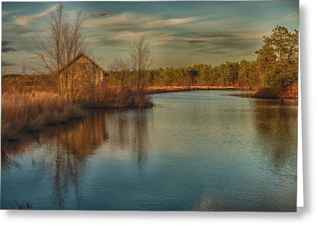 Pump House On The Mullica River Greeting Card by Louis Dallara