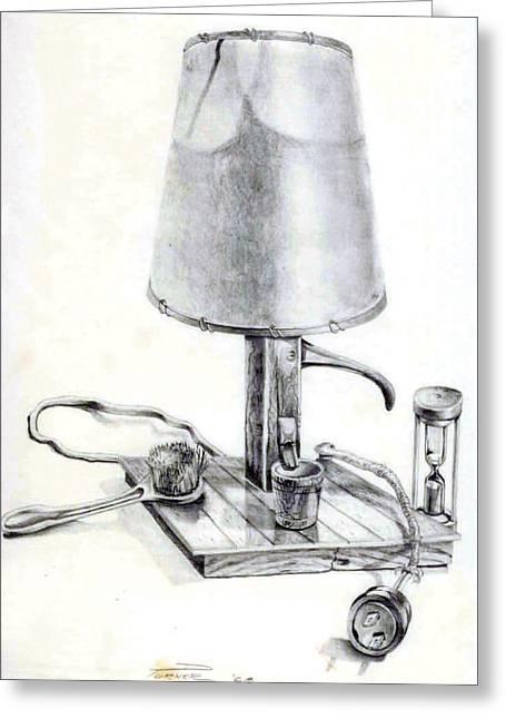 Pump Lamp Greeting Card