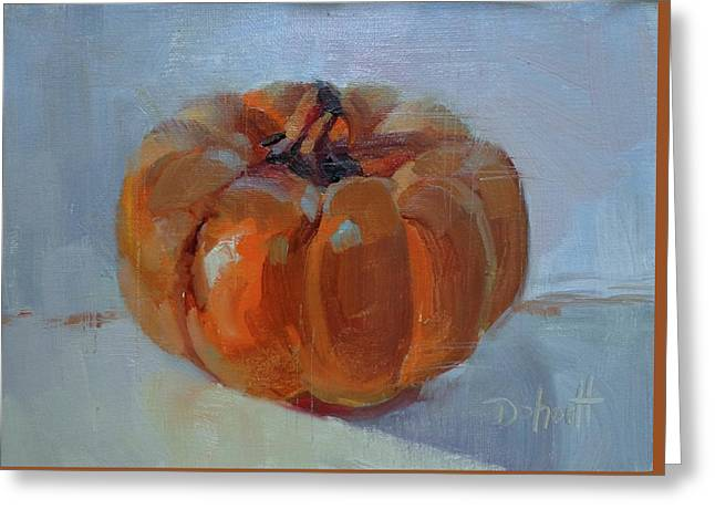 Pumpkin Alone  Greeting Card by Donna Shortt