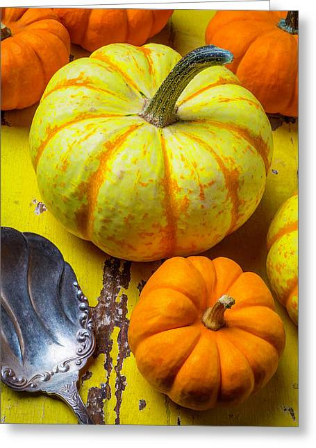 Pumpkin And Old Spoon Greeting Card