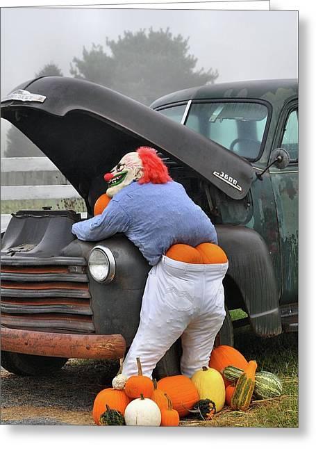 Pumpkin Butt Greeting Card by Todd Hostetter