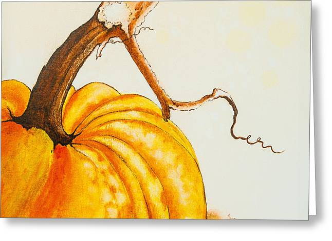 Pumpkin Greeting Card by Dawn Broom