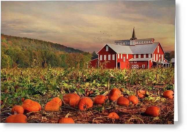 Pumpkin Farm Greeting Card by Lori Deiter