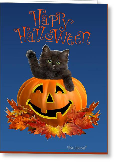 Pumpkin Kitty Greeting Card