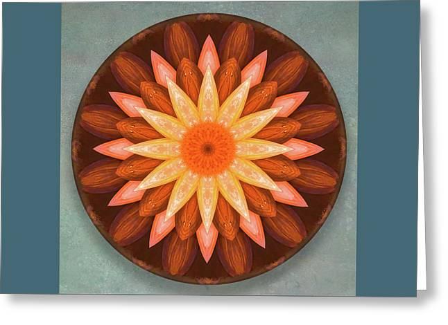 Pumpkin Mandala -  Greeting Card