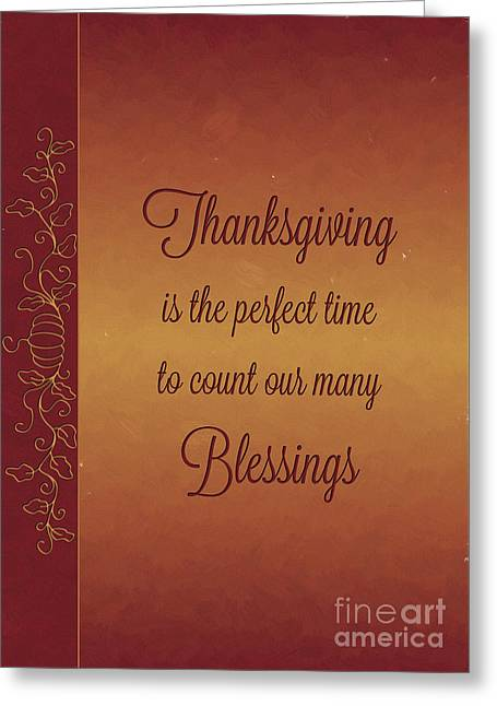 Pumpkin Painted Thanksgiving Blessings Greeting Card