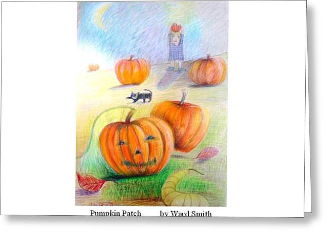 Pumpkin Patch Greeting Card by Ward Smith