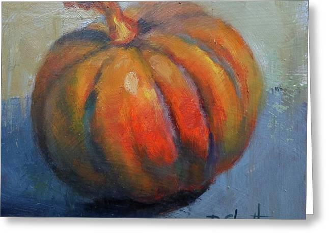 Pumpkin Pretty Greeting Card by Donna Shortt