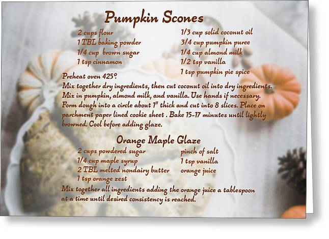 Pumpkin Scones Recipe Greeting Card