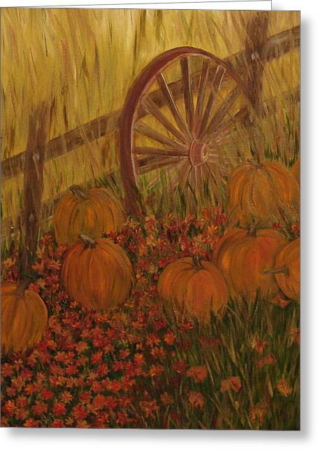 Pumpkin Wheel Greeting Card by Shiana Canatella