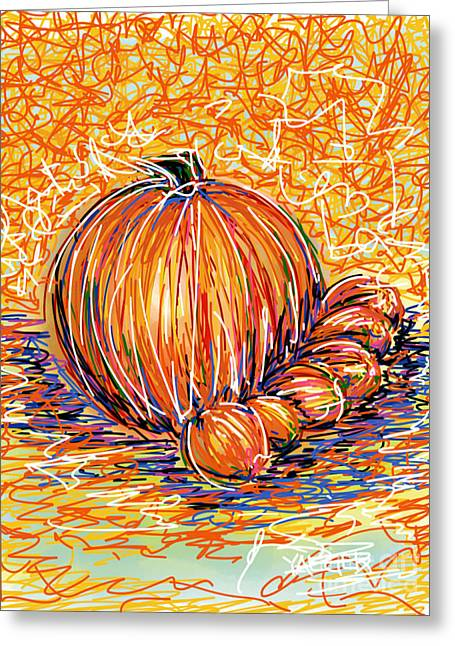 Pumpkinlets Greeting Card by Robert Yaeger