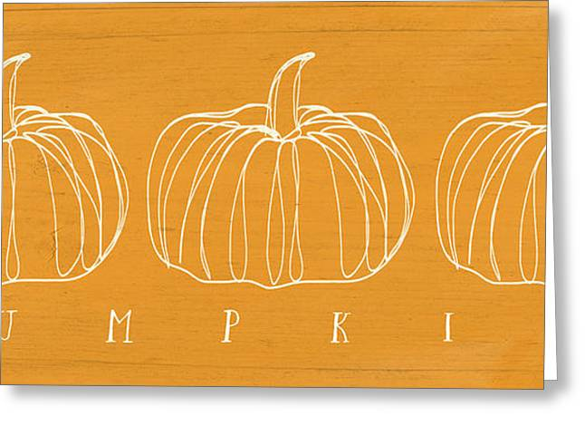 Pumpkins- Art By Linda Woods Greeting Card