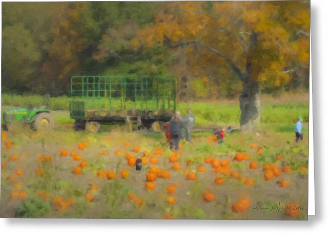 Pumpkins At Langwater Farm Greeting Card