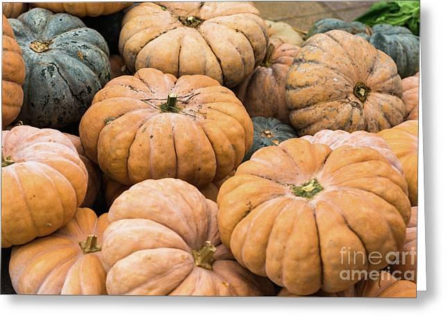Pumpkins For Sale In Korean Market Greeting Card