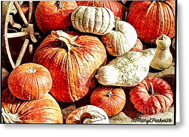 Pumpkins In The Barn Greeting Card