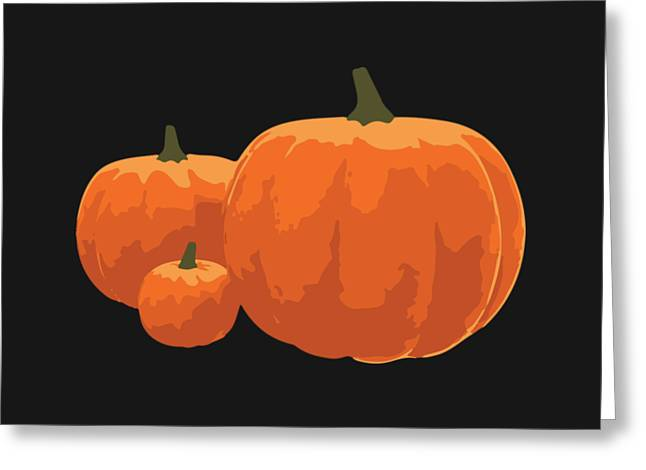 Greeting Card featuring the painting Pumpkins by Jennifer Hotai