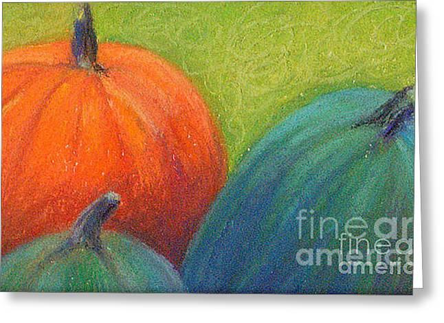 Pumpkins Greeting Card by Lisa Dionne