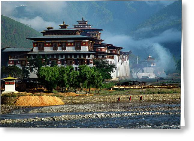 Punakha Dzong Greeting Card by Michael Morrissey
