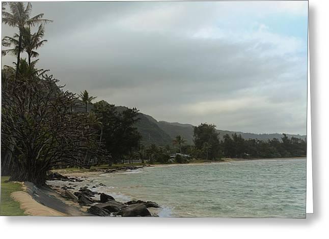 Punaluu Shoreline Greeting Card by Carolyn Ricks