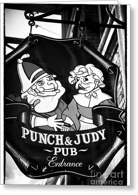 Punch And Judy Pub Greeting Card by John Rizzuto