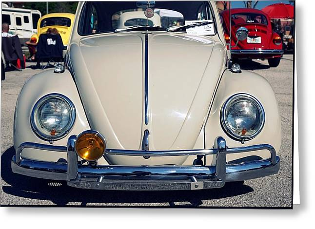 Punch Buggy White Greeting Card