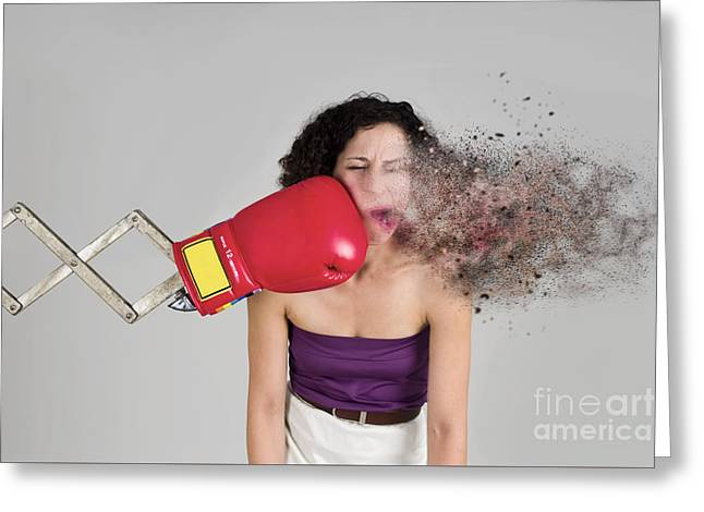 Punch In The Face Greeting Card by Ilan Rosen