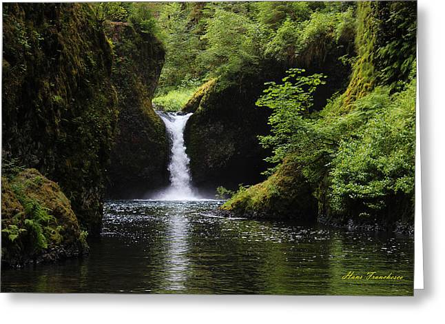 Punchbowl Falls Signed Greeting Card