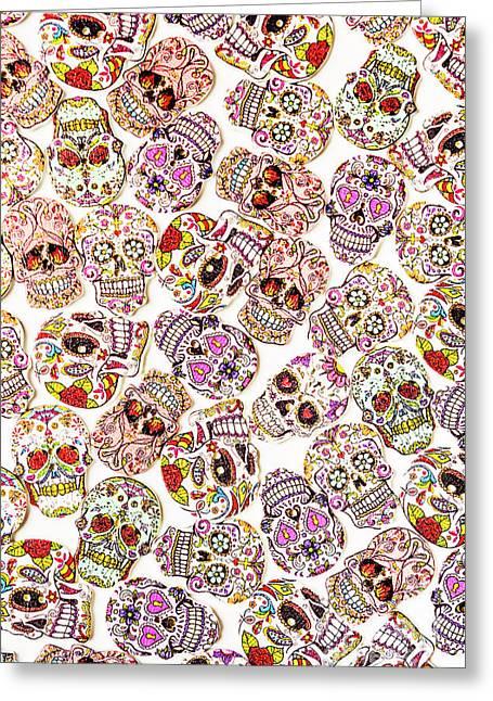 Punk Rock Pattern Greeting Card