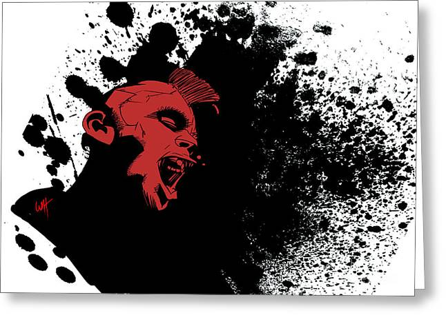 Punk Rock Greeting Card by Wes Huffor