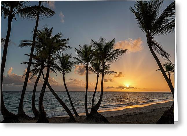Greeting Card featuring the photograph Punta Cana Sunrise by Adam Romanowicz