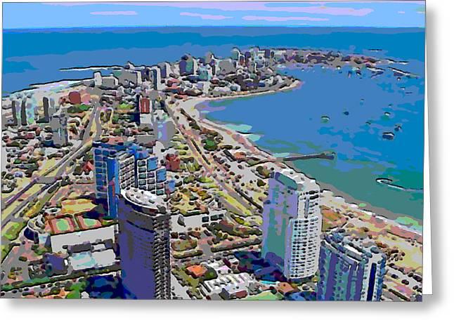 Punta Del Este Greeting Card by Rod Saavedra-Ferrere