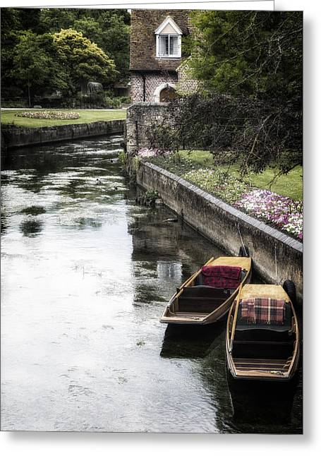 Punting Boats Greeting Card by Joana Kruse