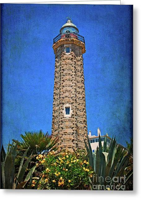 Greeting Card featuring the photograph Punto Doncela Lighthouse by Mary Machare