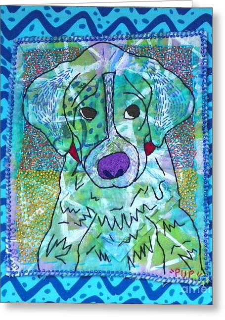 Pup Greeting Card by Susan Sorrell