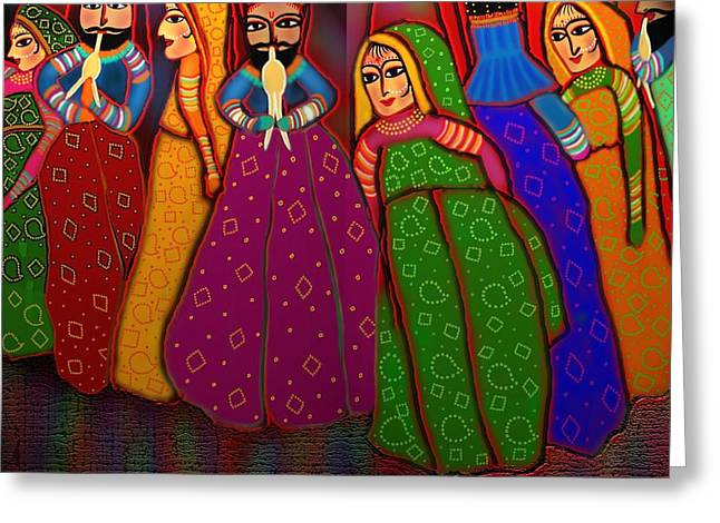 Puppet Show Greeting Card by Latha Gokuldas Panicker