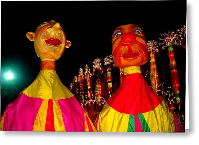 Puppets Greeting Card by Fareeha Khawaja